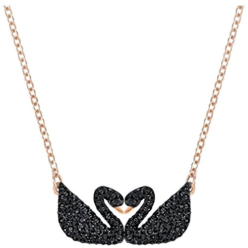 Swarovski Iconic Swan Double Necklace, Black 5296468 Length: 14 7/8 inches