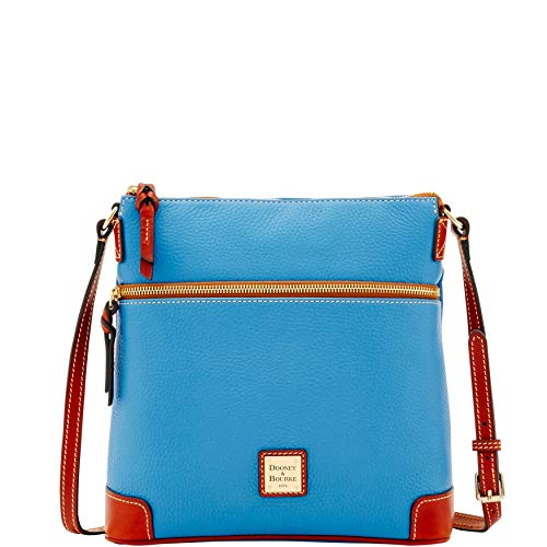 Body Cross Bourke (Dooney & Bourke Pebble Grain Crossbody Shoulder Bag Azure Blue)