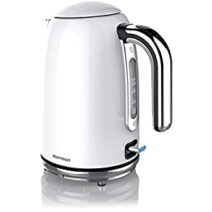 Homeart Premium Electric Kettle, Teapot, Water Boiler, Stainless Steel, 1.7 Liter, Pearl White 4