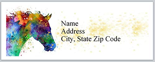 150 Personalized Return Address Labels Western Country Horse (BX 603)