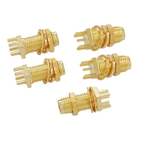 Uxcell a11053100ux0301 Female RF Coaxial Connector Straight (Pack of 5)