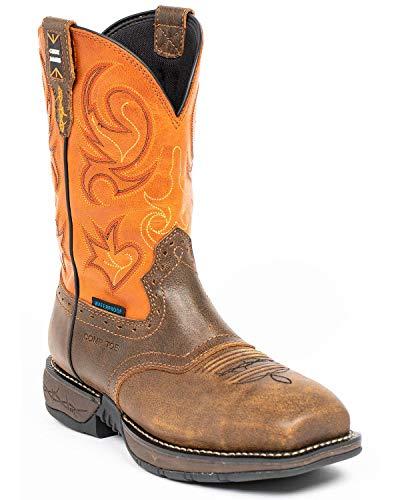 Cody James Men's Nano Lite Waterproof Western Boot Composite Toe Orange 10.5 EE