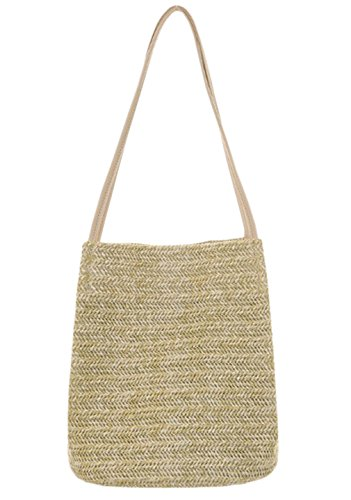 Bags Straw Gift White 1 Handbag Womens Beach Bag Shoulder Fashion HopeEye Crossbody brown Handmade Girl 5WzPT7wOWq