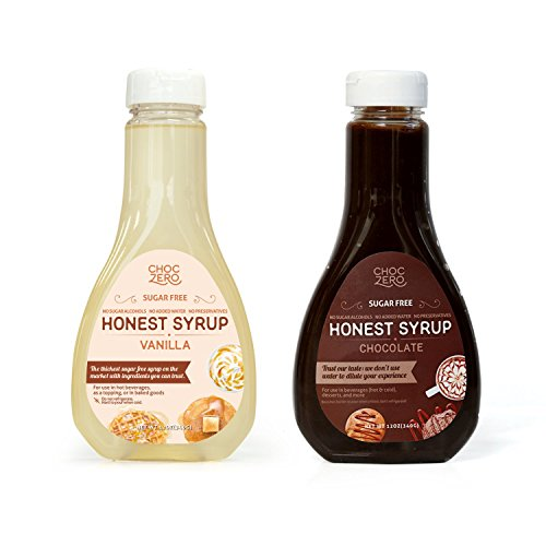 Soy Whipped Topping - ChocZero's Chocolate and Vanilla Syrup. Sugar Free, Low Net Carb, No Preservatives. Gluten Free. No Sugar Alcohols. Dessert toppings and baking syrups for keto (2 bottles)