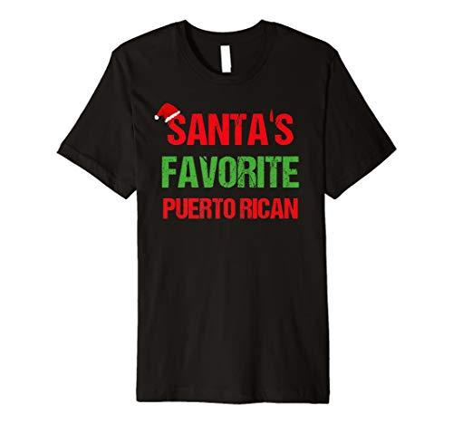 Santas Favorite Puerto Rican Funny Ugly Christmas Shirt -