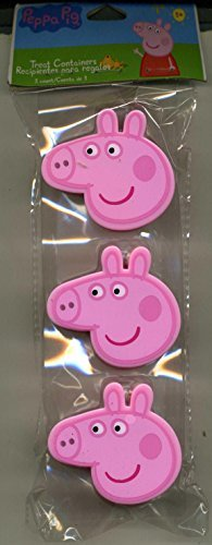 3 Peppa Pig Treat Containers - For Easter Candy