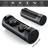 Bluetooth 5.0 Wireless Earbuds, OneBuyOne Wireless Bluetooth Headphones 15H Playtime Deep Bass HiFi 3D Stereo Sound and Noise Cancelling Earbuds for Mobile Phone, Computer, Game Console, Car Phone