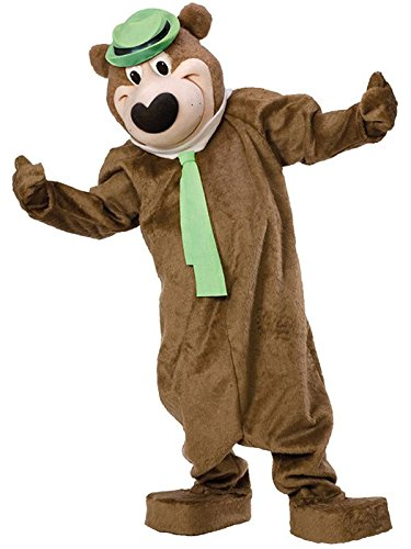 Yogi Bear Mascot Costume, Brown, (Boo Boo Bear Costume)