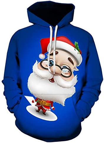 OH Deer Noël Capuche Sweat à capuche sweat à capuche fête drôle cher cadeau Renne