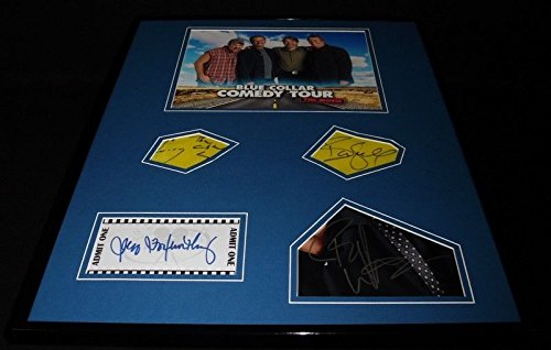 (Blue Collar Comedy Tour The Movie Cast Signed Framed 16x20 Photo Display)