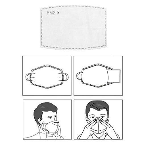 30pcs PM2.5 Activated Carbon Filter Breathing Insert Mask Mouth (This Item Only Filter Not Face Mask)