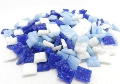 400 Vitreous Glass Mosaic Tiles Blue Arts Crafts 10mm Hobby Island