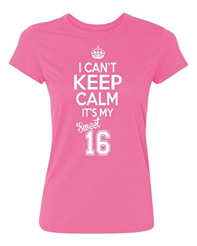 P&B Sweet Sixteen It's My Birthday! Women's T-Shirt, M, Azalea Pink