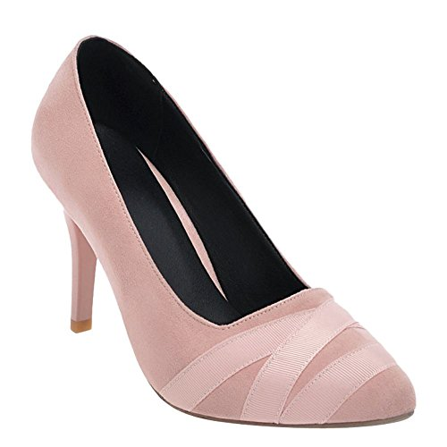 Mee Shoes Women's Charm Ladies High Heel Slip On Size 2-8 Court Shoes Pink L8OI0uq8B7
