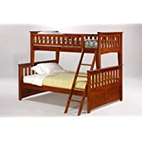 Night & Day Ginger Twin Over Full Bunk Bed Cherry Finish