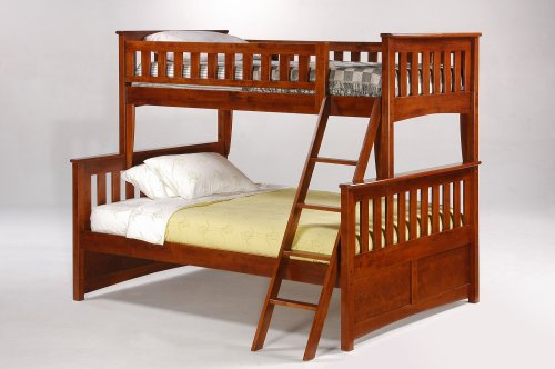 Night & Day Ginger Twin Over Full Bunk Bed Cherry (Twin Over Full Cherry Bed)