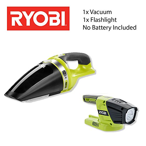 RYOBI Cleaning Bundle: P713 Cordless Hand Vacuum [NEW] - P705 LED 130 Lumen Flashlight - No Battery - No Charger ?