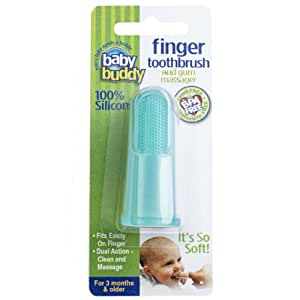Baby Buddy Silicone Finger Toothbrush, Green