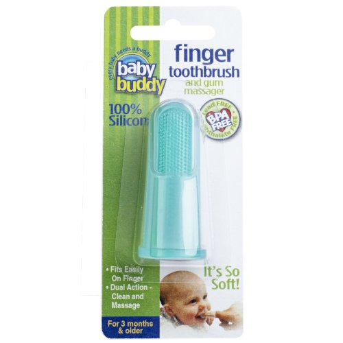 Baby Buddy Finger Toothbrush Stage 2 for Babies/Toddlers, Kids Love Them, Green