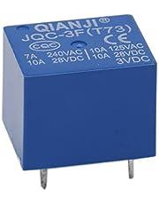 heschen PC Junta Relay JQC-3F (T73) DC 3V Coil SPST 7A, 240VAC 5pin terminales 5unidades