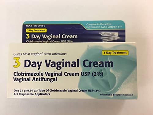 Vaginal Antifungal Cream - Clotrimazole 3 -Day Vaginal Cream - 0.74 Oz (PACK OF 3)
