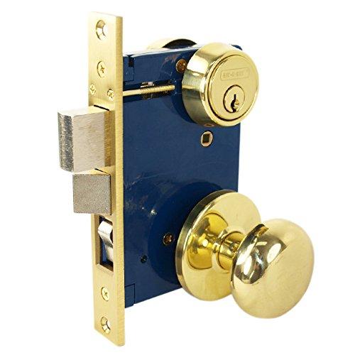 Iron Mortise Lockset (Tuff Stuff 5122AR Heavy Duty Mortise Lockset Ornamental Iron Gate Door Double Cylinder 2-1/2