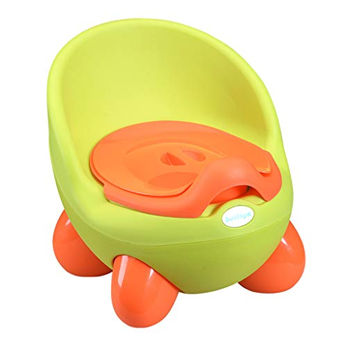 ERLOU Educational Toy Children Cute Kids Toilet Training 2 in 1 Baby Toddler Potty Seat Trainer Chair Boys Girls Gifts (Green)]()