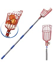 Fruit Picker, 8 Foot Fruit Picker Tool with Stainless Steel Connecting Pole, Fruit Picking Equipment for Getting Fruits Lemons Apples Guavas Avocados Pears Mangoes Oranges Citrus
