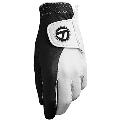 TaylorMade Tour Preferred Vivid Cadet Glove, Black/White, Medium, Left Hand
