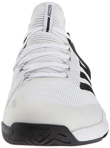 adidas Herren Adizero Ubersonic 2 Tennisschuh Weiß / Kern Schwarz / Grau Zwei