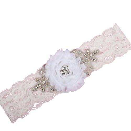 IUMN Wedding accessories Love Blooms Garter White (XXL ()