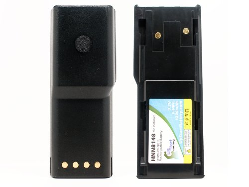2 Pack - Replacement for Motorola P110 Battery - Compatible with Motorola HNN8148 Two-Way Radio Battery (1200mAh 7.2V NI-CD) - Compatible with HNN8148 HNN8148A HNN8148B Radius P110 P110