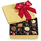 Godiva Chocolatier Red Ribbon Gold Ballotin Assorted Gourmet Chocolates 19 Piece Gift Box, Great for Gifting