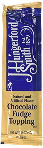 J Hungerford Smith Portion Control Topping, Chocolate Fudge, 1.5 Ounce (Pack of ()