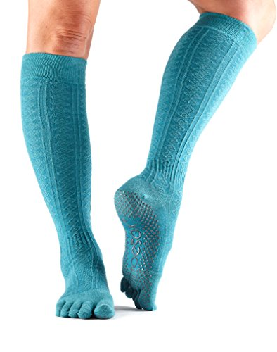 ToeSox Scrunch Women's Full Toe Grip Socks (Mermaid) Medium - Fall Collection