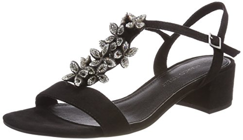 Marco Tozzi Women's 28204 T-Bar Sandals Black (Black 001) 8VnytUA9wP
