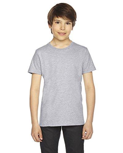 American Apparel 2201W Youth Fine Jersey T-Shirt, Heather Grey, -