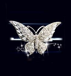 Crystal Car Fragrance Butterfly Car Diffuser