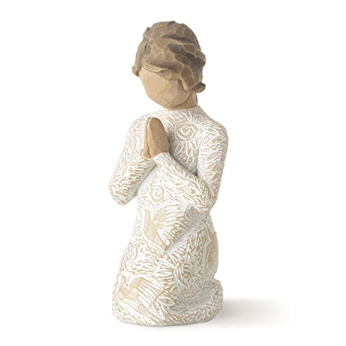 Angel Praying Figure - Willow Tree Prayer of Peace, sculpted hand-painted figure