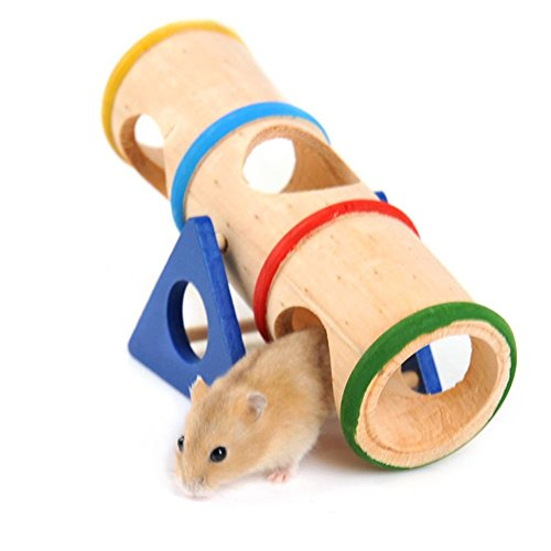 Hamster Seesaw Tunnel Small Animal Playground Toy for Small Pet/ Hamster/ Gerbils/ Dwarf Mouse 41ccpyHodcL