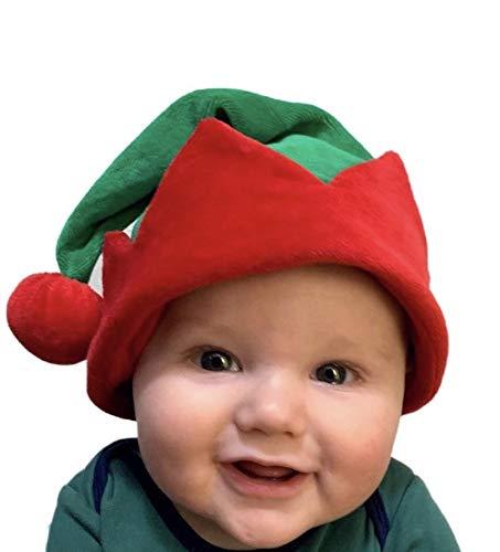 Koala Kids Baby Cute Little Elf Hat Boy Girl Red Green Velour Toddler (18-24 Months +)… Soft and Adorable! ()