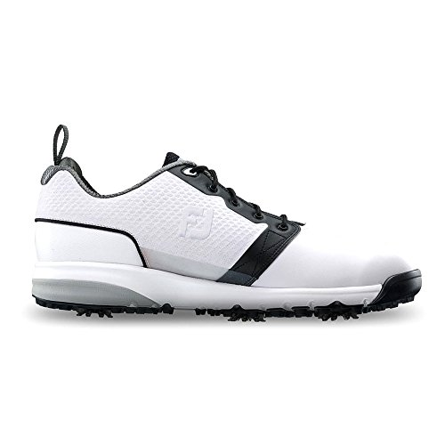 FootJoy Men's ContourFIT-Previous Season Style Golf Shoes White 7.5 W Black, US