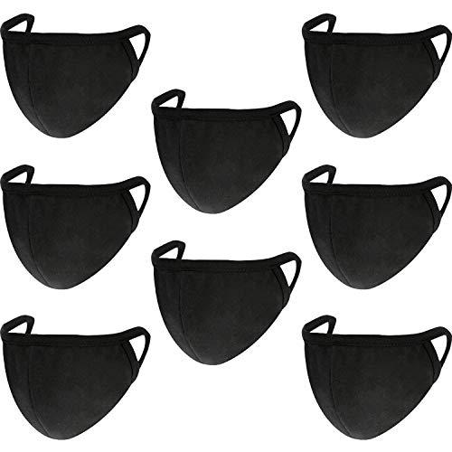 Pangda 8 Pack Mouth Mask Anti-Dust Cotton Mouth Face Masks Mouth Cover for Man and Woman, Black