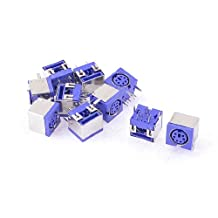 uxcell® 10 x Metal Cover 6P DIN PS/2 Mouse Keyboard PCB Socket Connector