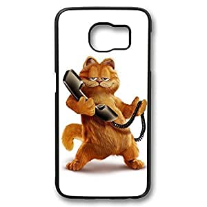 Samsung S6 Case, Galaxy S6 Case - Shock-Absorption Black Hard Case for Samsung Galaxy S6 Garfield Anti-Scratch Hard Back Case for Samsung Galaxy S6