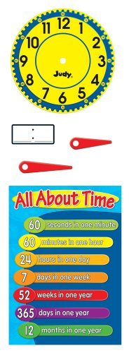 Carson Dellosa Judy Clock Bulletin Board Set ()