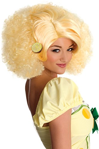 Lemon Meringue Costumes (Secret Wishes Strawberry Shortcake Adult Deluxe Meringue Wig, Lemon, Adult)