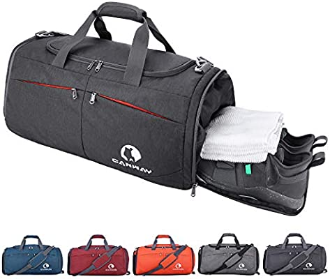 61c44f2e6fa Amazon.com: Canway Sports Gym Bag, Travel Duffel bag with Wet Pocket & Shoes  Compartment for men women, 45L, Lightweight: Canway Outdoor