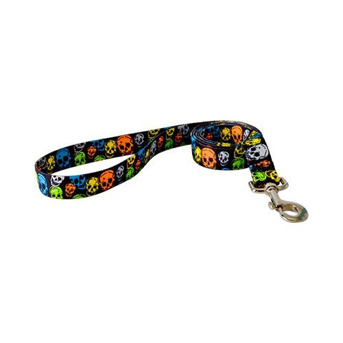 Yellow Dog Design Lead, 3/4-Inch by 60-Inch, Neon Skulls (Neon Skull And Crossbones)