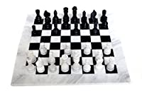 RADICALn Black and White Chess Game Handmade Marble Chess Set